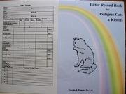 LITTER RECORD BOOK FOR KITTEN BREEDERS