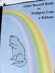 Litter Record Book for Pedigree Cats and Kittens